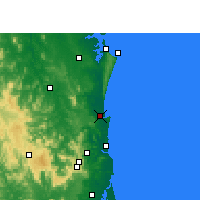 Nearby Forecast Locations - Tewantin - Mapa