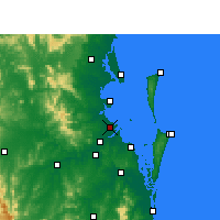 Nearby Forecast Locations - Brisbane - Mapa
