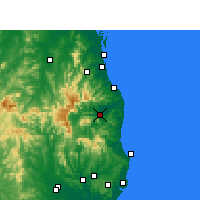 Nearby Forecast Locations - Murwillumbah - Mapa