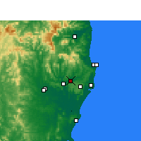 Nearby Forecast Locations - Lismore - Mapa