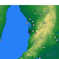 Nearby Forecast Locations - Adelaide - Mapa