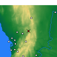 Nearby Forecast Locations - Nuriootpa - Mapa