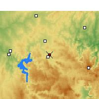 Nearby Forecast Locations - Mudgee Airport - Mapa