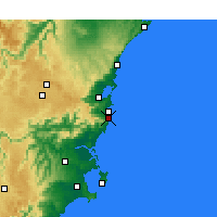 Nearby Forecast Locations - Kiama - Mapa
