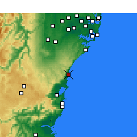 Nearby Forecast Locations - Bellambi Aws - Mapa