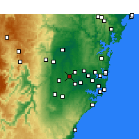 Nearby Forecast Locations - Horsley - Mapa