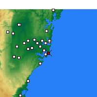 Nearby Forecast Locations - Little Bay - Mapa