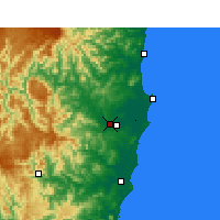 Nearby Forecast Locations - Kempsey Airport - Mapa