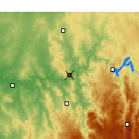 Nearby Forecast Locations - Gundagai - Mapa