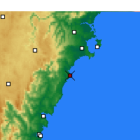 Nearby Forecast Locations - Ulladulla - Mapa