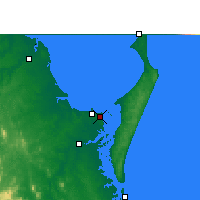 Nearby Forecast Locations - Hervey Bay AP - Mapa