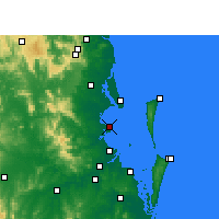 Nearby Forecast Locations - Redcliffe - Mapa