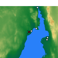 Nearby Forecast Locations - Whyalla Airport - Mapa