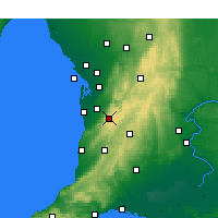 Nearby Forecast Locations - Mount Lofty - Mapa