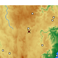 Nearby Forecast Locations - Goulburn Airport - Mapa