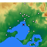 Nearby Forecast Locations - Fawkner Beacon - Mapa