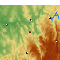 Nearby Forecast Locations - Adelong - Mapa