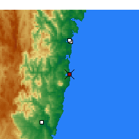 Nearby Forecast Locations - Narooma - Mapa