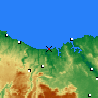 Nearby Forecast Locations - Devonport Airport - Mapa