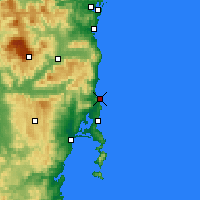 Nearby Forecast Locations - Bicheno - Mapa