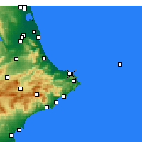 Nearby Forecast Locations - El Verger - Mapa