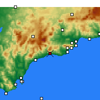 Nearby Forecast Locations - Marbella - Mapa