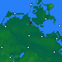 Nearby Forecast Locations - Stralsund - Mapa
