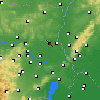 Nearby Forecast Locations - Gänserndorf - Mapa