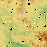 Nearby Forecast Locations - Schönsee - Mapa