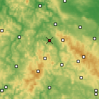 Nearby Forecast Locations - Bad Salzungen - Mapa