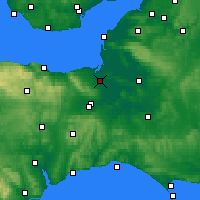 Nearby Forecast Locations - Bridgwater - Mapa