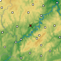 Nearby Forecast Locations - Wittlich - Mapa