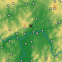 Nearby Forecast Locations - Bad Homburg vor der Höhe - Mapa
