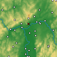 Nearby Forecast Locations - Hofheim - Mapa