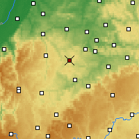 Nearby Forecast Locations - Böblingen - Mapa