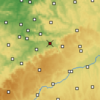 Nearby Forecast Locations - Göppingen - Mapa