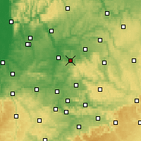 Nearby Forecast Locations - Obersulm - Mapa