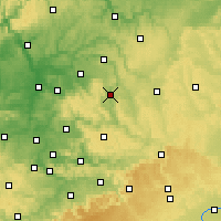 Nearby Forecast Locations - Schwäbisch Hall - Mapa