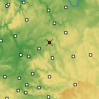 Nearby Forecast Locations - Künzelsau - Mapa