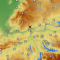 Nearby Forecast Locations - Waldshut-Tiengen - Mapa