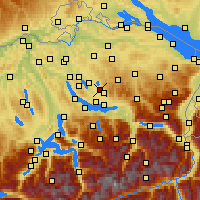 Nearby Forecast Locations - Wetzikon - Mapa