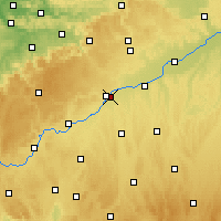 Nearby Forecast Locations - Neu-Ulm - Mapa