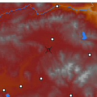 Nearby Forecast Locations - Hamur - Mapa
