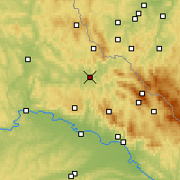 Nearby Forecast Locations - Cham - Mapa