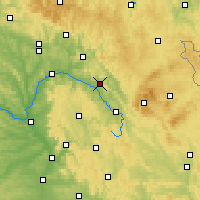 Nearby Forecast Locations - Kulmbach - Mapa