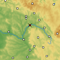 Nearby Forecast Locations - Lichtenfels - Mapa