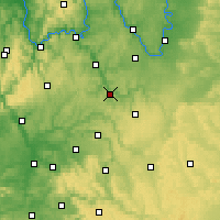 Nearby Forecast Locations - Bad Mergentheim - Mapa