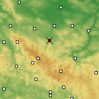 Nearby Forecast Locations - Arnstadt - Mapa