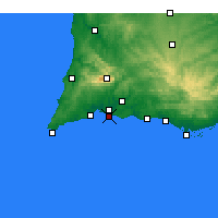 Nearby Forecast Locations - Praia da Rocha - Mapa