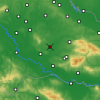 Nearby Forecast Locations - Garešnica - Mapa